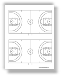 Thumbnail image of NCAA basketball court diagram
